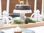 mesa nórdica para cenas Navidad