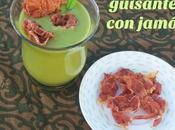 Crema guisantes jamón