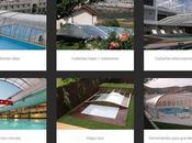 Diferentes estructuras cubiertas para piscinas