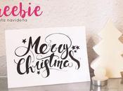 Freebie: Tarjeta Merry Christmas