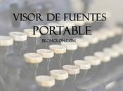 Visor Fuentes Portable