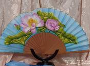 "Abanico ""Flor loto"""