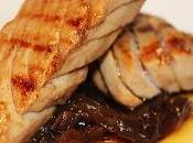 Ventresca atun marinado Pedro Ximenez cebolla caramelizada mermelada zarzamora