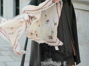 abrigo gris vestido lencero