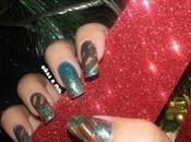 Como hacer Reverse Stamping: Diseño uñas para Navidad