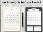 Calendarios Gratuitos Para Imprimir