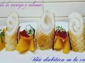Ensalada naranja calamar