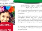 Cinthia Paola comunicó familiares desde Puebla