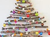 Arbol navidad sobre pared