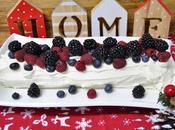 Tronco navidad nata frutos rojos
