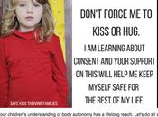 ¿Obligar hijos besos está mal?