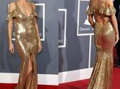 Heidi Klum espectacular dorado pedicura juego, Grammy 2011