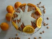 Pastel almendras naranjas