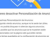 Desactiva anuncios personalizados Google solo pasos