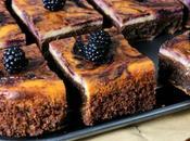 Brownie-cheesecake moras
