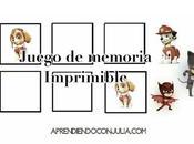 Juego memoria imprimible: Patrulla Canina Masks (Paw patrol memory game)