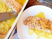 Salmón marinado aromáticas horno