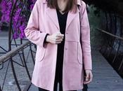 Abrigo rosa corte recto Lightinthebox