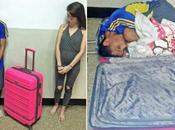Mujer intenta sacar novio fuera prisión maleta