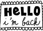 ¡Estoy vuelta! blah