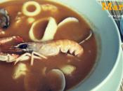 Sopa pescado mariscos