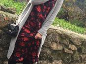 Vestido lencero maxi cardigan