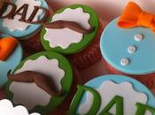 Cuatro imagenes modelos cupcakes para hombres decorados