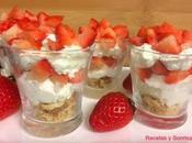 Vasitos cheesecake fresas