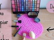 Diy: tabla para limpiar brochas maquillaje