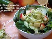 Ensalada pepino, calabacin, manzana