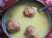 Sopa albóndigas carne