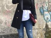 Blazer jeans desflecados