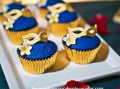 Cuatro fotos mini cupcakes decorados para cumpleaños facil