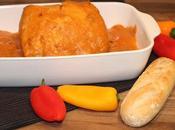 Lomo cerdo salsa pimientos