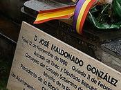 Homenaje José Maldonado, último Presidente Republica España exilio, francmasón.