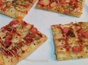 Pizza manzana pollo