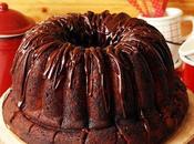 Chocolate Cherry Brownie Cake