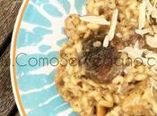 Risotto setas arroz arborio concentrado shiitake casero