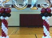 Cuatro decoraciones adornos globos para graduacion