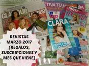 Revistas Marzo 2017 (Regalos, suscripciones viene)