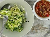Espaguetis calabacín boloñesa soja