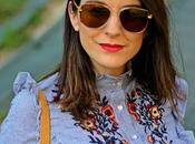 Outfit: Blusa Rayas Bordada