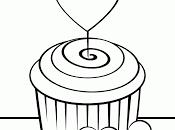 Cuatro hermosos dibujos para colorear cupcakes decorados