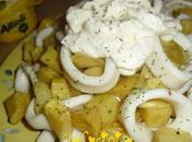 Calamares patatas fritas salsa allioli