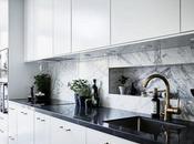 Mármol Carrara cocinas nórdicas.