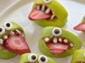 Cuatro imagenes comida frutas para niños nutritivas
