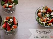 Ensalada espinacas fresas