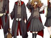 """""""Hermione, Draco, Ron, Harry compañía"""" AHORA versión Anime"""