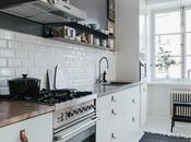 Azulejo biselado para cocina nórdica.