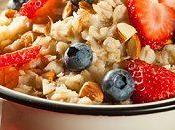 Cuatro imagenes comida desayuno saludable nutritivo